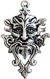 Sterling silver Green man pendant - sigils of the craft
