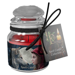 Spell jar scented candle - Love (Red Rose)