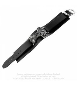 Thunderhammer, real leather wrist strap- Alchemy Gothic