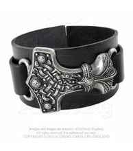 Load image into Gallery viewer, Thunderhammer, real leather wrist strap- Alchemy Gothic