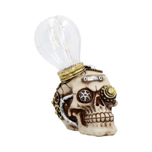 Bright idea - steampunk light up skull