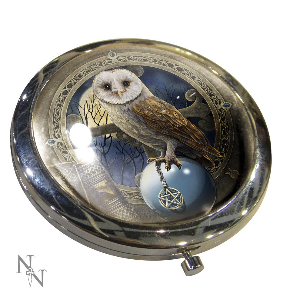 Compact mirror - Spell keeper owl Lisa Parker