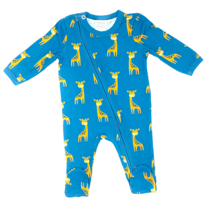 Baby grow soft & stretchy Giraffe zipper