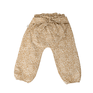 Pants gold leopard high waste