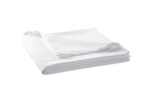 Matouk White Diamond Pique Coverlet-White