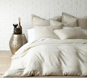 Washed Linen Duvet-Natural Queen
