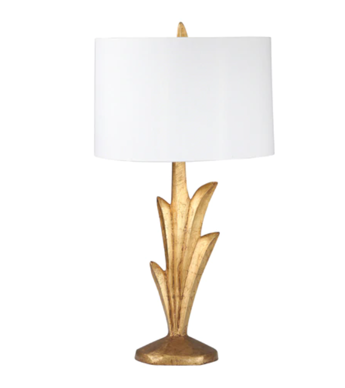 Gold Resin Palm Lamp 29