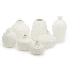Load image into Gallery viewer, White Ceramic Vases