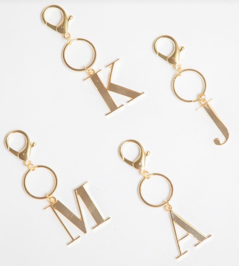 Gold Initial Keychain