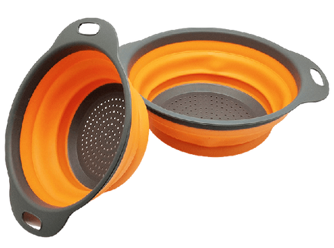 POINT™ 2 PCs Foldable Silicone Colander