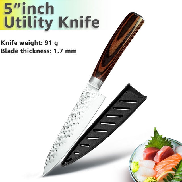 Kitchen Knife 8 inch Chef 7CR17 440C German Stainless Steel Japanese Knives