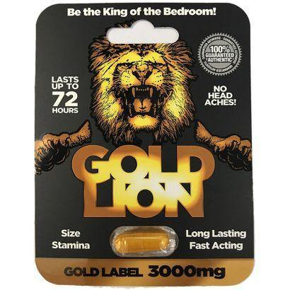 Gold Lion Male Enhancement Pill 1ct - Tasteful Desires Adult Shop