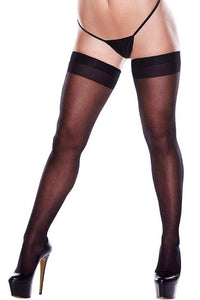 Sheer Thigh High with Back seam Queen Size-Tasteful Desires Adult Shop