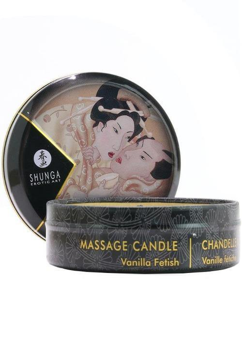 Mini Massage Candle 1oz/30ml in Vanilla Fetish-Tasteful Desires Adult Shop