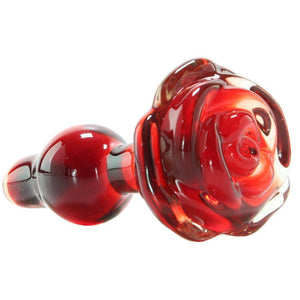 Icicles No. 76 Glass Plug in Red - Tasteful Desires Adult Shop