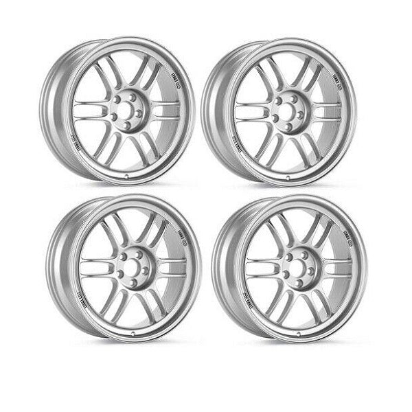 Enkei RPF1 Silver Double Staggered Wheels 17x8 & 18x9