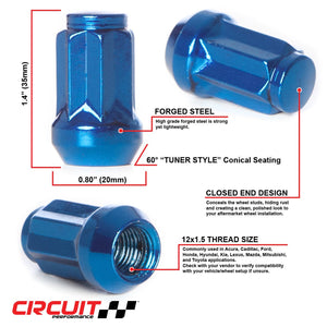 Star Spline Drive Lug Nuts - M12x1.5