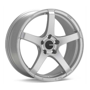 Enkei Kojin Silver Staggered Wheels 17x8 & 17x9