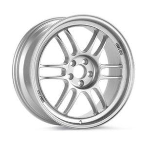 Enkei RPF1 Silver Staggered Wheels 17x7 & 17x8