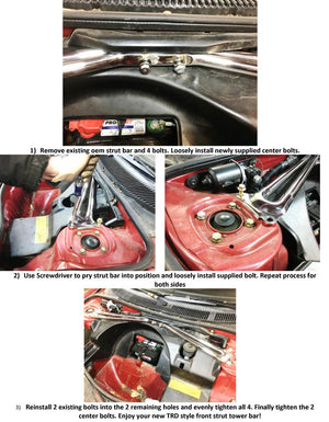 TRD Front Strut Bar - SW20 MR2