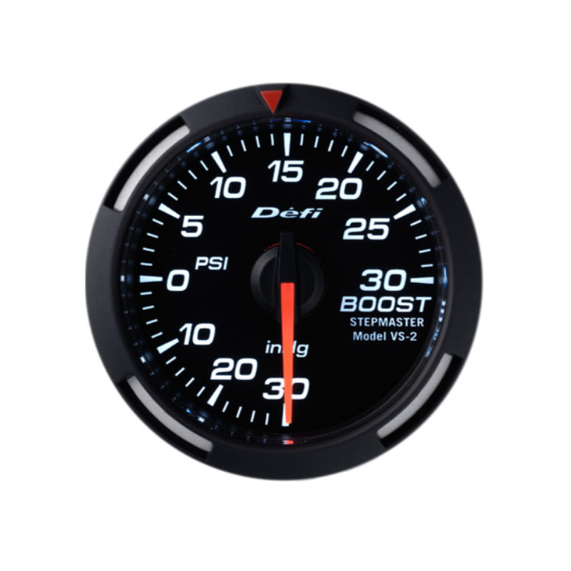 Defi White Racer 52mm Gauge - Boost Gauge 30psi