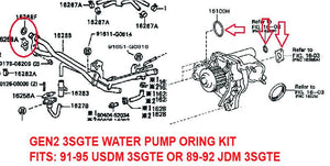Water Pump O-Ring Kit - 3SGTE