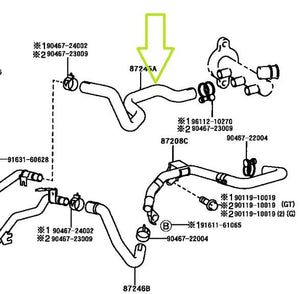 Heater Core Hose - SW20 MR2