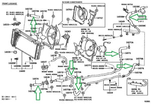 Radiator Coolant Hose Kit - SW20 MR2