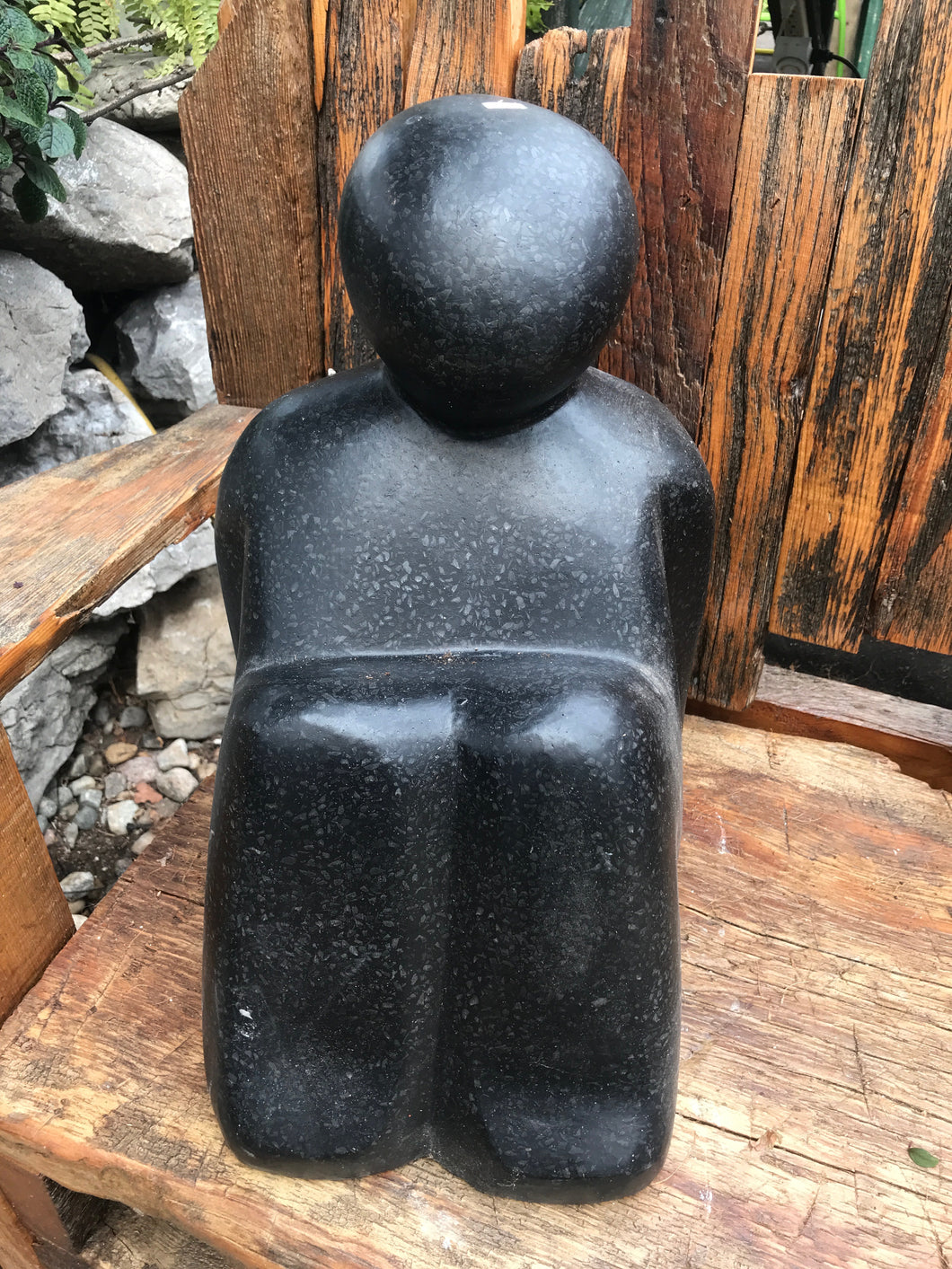 Sitting Stone Man Decoration