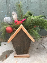 Load image into Gallery viewer, Birdhouse Christmas Planter