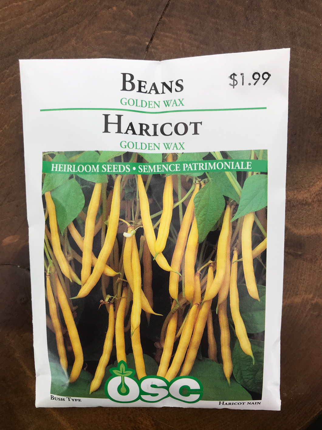 Beans – Bush Yellow Golden Wax