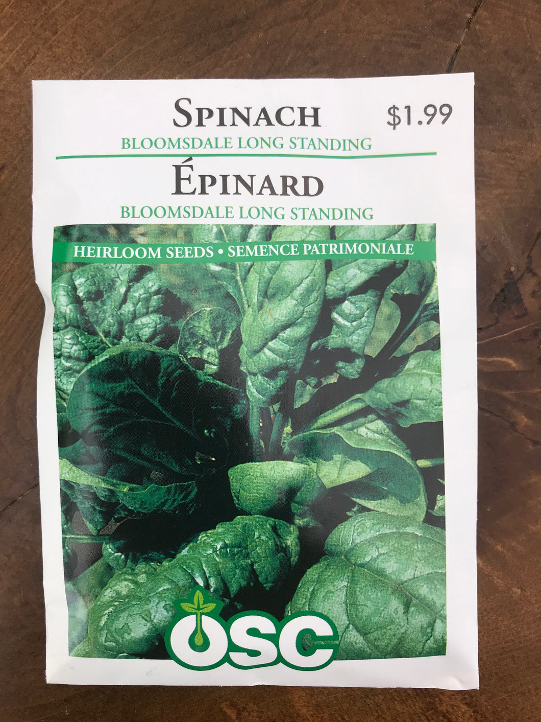 Spinach – Long Standing Bloomsdale