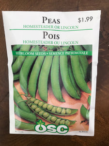 Peas – Homesteader or Lincoln