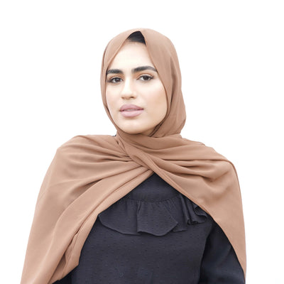 Chestnut Brown Chiffon Hijab