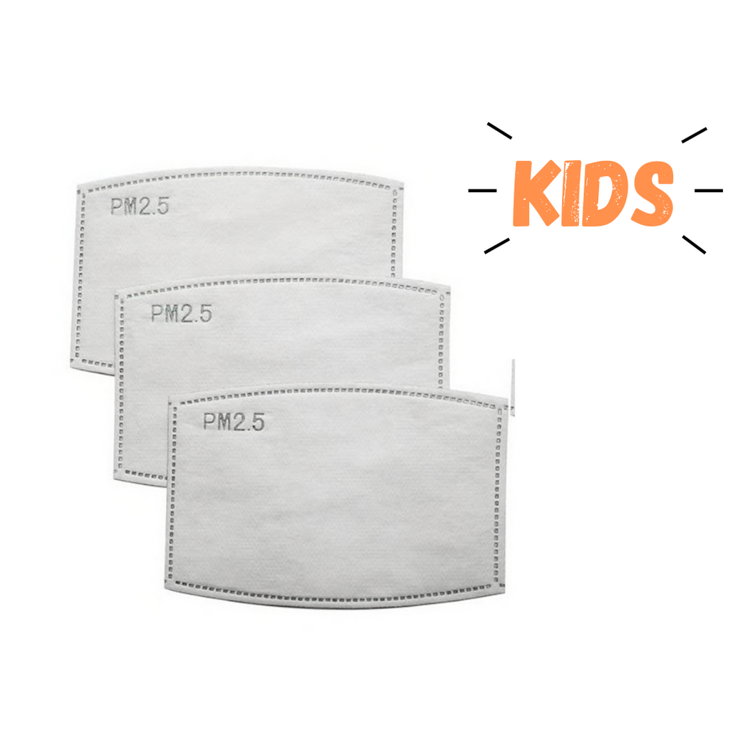 KIDS PM 2.5 Mask Filters - 3 Pack