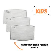 Load image into Gallery viewer, KIDS PM 2.5 Mask Filters - 3 Pack