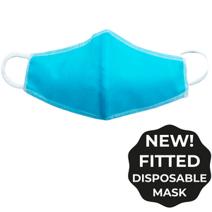 Adult/Youth  Fitted Disposable Face Mask - 5 Count Value Pack