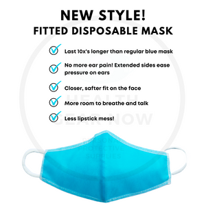 Kids Fitted Disposable Face Mask - 5 PACK