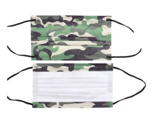 Load image into Gallery viewer, Camouflage Print Disposable Face Mask - 20 PACK