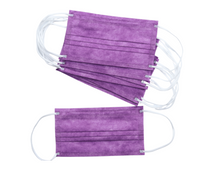 Load image into Gallery viewer, Purple 3Ply Face Masks - 20 PACK