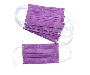 Purple 3Ply Face Masks - 20 PACK