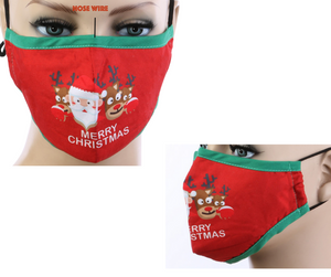 Merry Christmas Cotton Mask w/ Filter