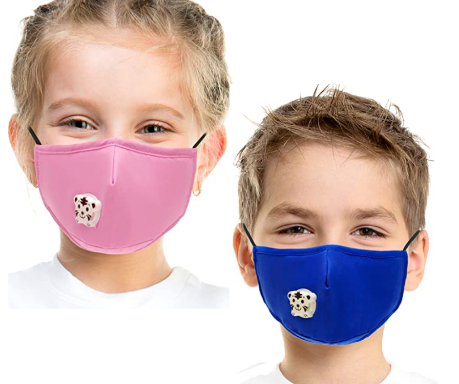 Kids Cotton Face Mask w/ Filter