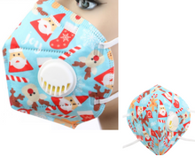 Load image into Gallery viewer, Christmas Print KN95 Respirator Valve Mask