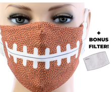 Load image into Gallery viewer, Football Mask w/ Filter