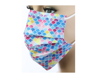 Rainbow Dots Disposable Face Masks - 20 PACK