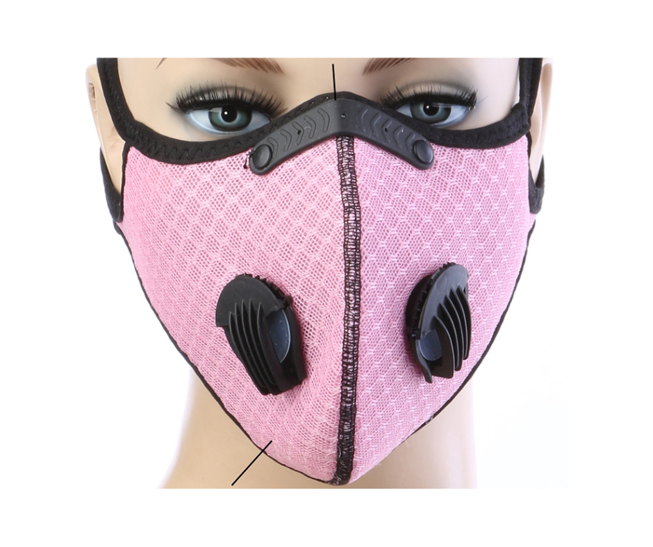 Pink Summer Sports Mask