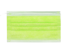 Load image into Gallery viewer, Neon Yellow 3Ply Face Masks - 20 PACK
