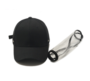 Baseball Cap Shield - Protective Hat with Face Shield