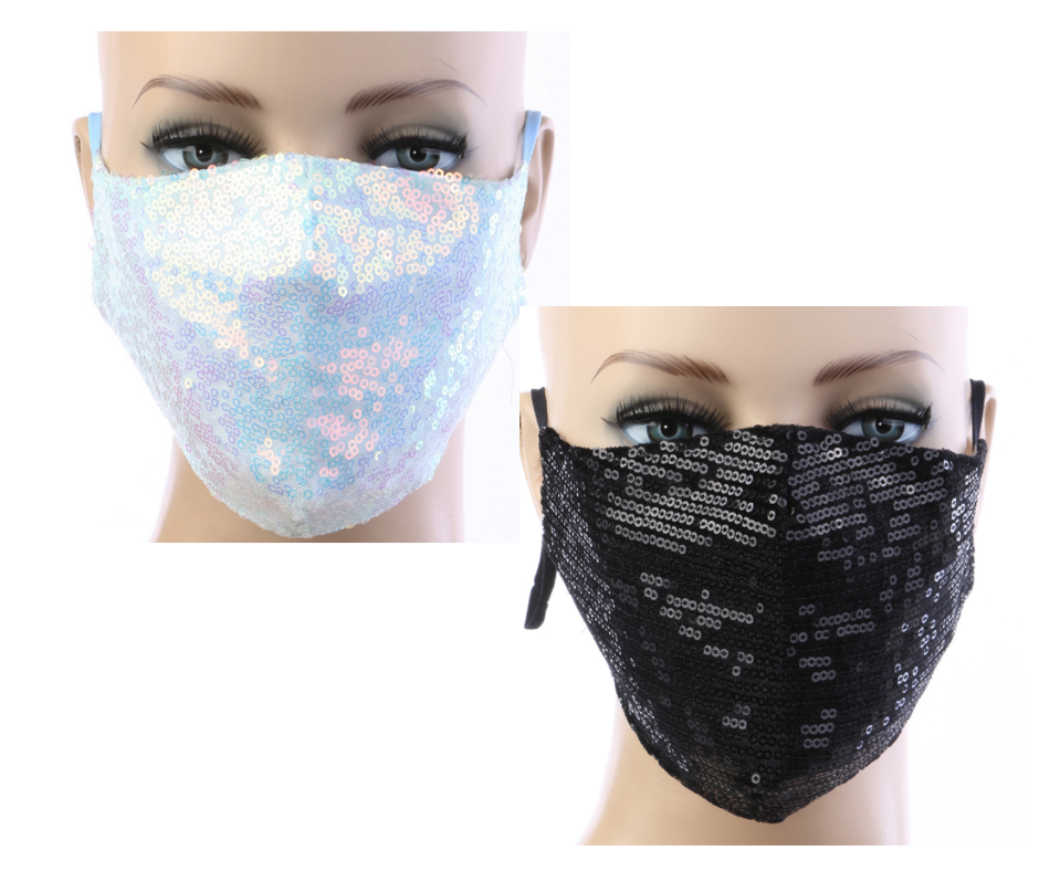 Sequin Mask w/ Filter